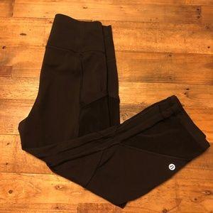 Lululemon crop leggings with mesh